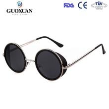 Nuevo diseño de moda gafas de sol circulares gafas de marco metálico