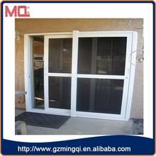 Aluminium garage sliding interior screen net glass sliding doors