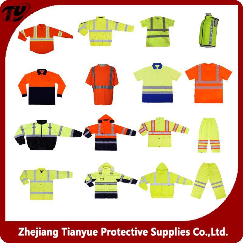 2016 лучший продавец Пользовательские светоотражающие Безопасности куртка с карманами EN ISO 20471