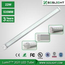 clara y transparente de la cubierta 4pin 2g11 de la lámpara fluorescente