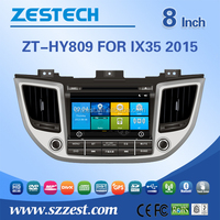 ZESTECH china factory oem 7 inch 2 din car Audio player for Hyundai IX35 2015 car audio with DVD GPS