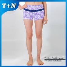 spandex großhandel baby rüschen Turnhalle kompression frauen shorts