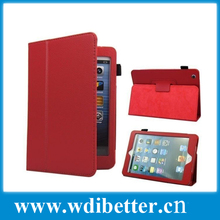 Leather compendium for ipad 4 customized leather case for ipad 4