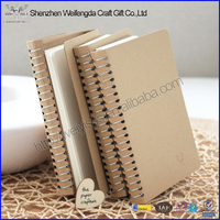 Metal Spiral Craft Paper Cover Notebook