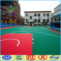 Hot sale modified PP durable basketball court floor