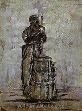 new abstract old poor man oil painting on canvas decoration