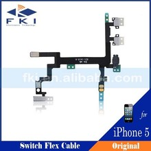 For iphone 5 power flex, Switch Button On/Off Volume Button Flex Cable Assembly For iPhone 5 5G