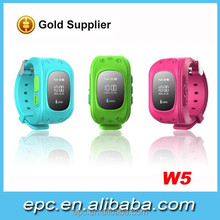 Smart watch manufacturer Kids Hand Wrist Watch Phone W5 GPS Tracker Cell Phone Watch