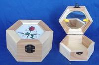 Wooden jewelry box princess jewelry box necklace jewelry ring box