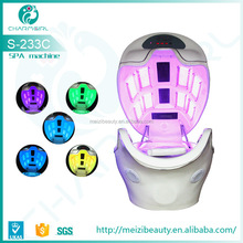 2015 Newly Super Deluxe LED light ozone sauna Digital Spa Space Capsule for Salon