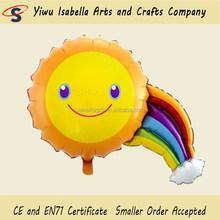 smiling face foil balloon, Sunshine foil balloon,Rainbow balloon