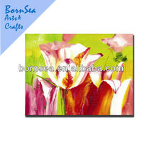 flower picture printing art painting promotive gift