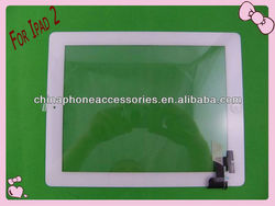 100% original white digitizer touch screen for ipad 2 touch screen