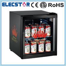 52L single glass door commercial mini display beverage refrigerator