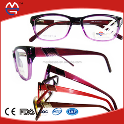 crystal large frame 2015 latest style acetate frames china wholesale eyeglasses frame fashion optical accetate frames