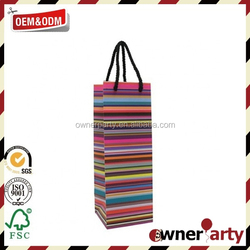 2015 New Custome Fancy Paper Wine Bag