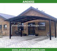 metal sunshade frame carport canopies