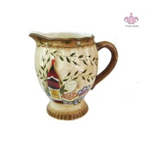 ceramic water container with Full Handpaint