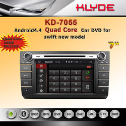 hot sale model quad core Android 4.4 double 2 din with touchscreen iPod input 2 din car dvd android can-bus for Suzuki swift