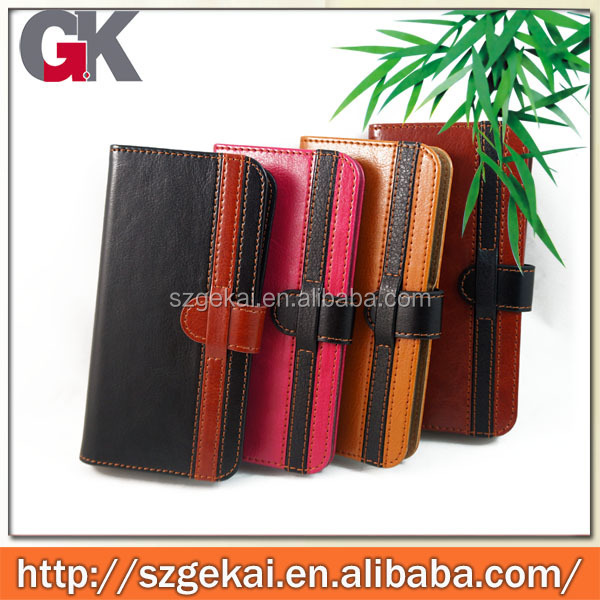 for iphone 6 leather case, pu leather flip case 2015 new arrival