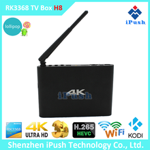 iPush H8 RK3368 Octa core 4K smart TV BOX Dual Band WIFI 2.4G & 5G android 5.1 internet tv box