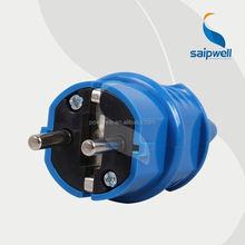 Saip /Saipwell Hot Sale IP44 230V 16A 2 Pin French Type brass plug