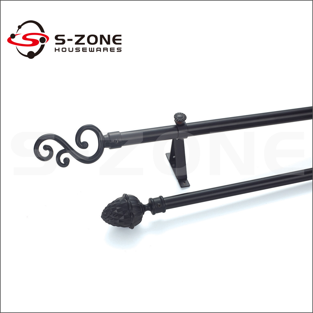 free sample metal iron curtain rod decorative curtain rods
