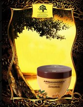 Rebuild strength and restore elasticity gold hair mask infuded with argan oil