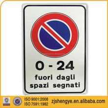 American Reflective material parking sign