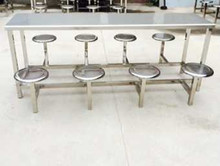 new modern design dining table/hot selling stainless steel table