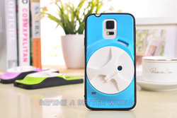 Earphone Holder Case Plastic Hard Cover Black Soft Silicone Rubber Frame Case for iPhone 6