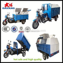 Africa market 150cc air cooling garbage truck cleaning with ccc in Kenya
