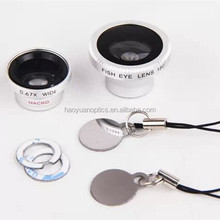 magnetic 3 in 1 camera lens fisheye wide-angle macro lens for mobile phone