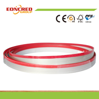 Bicolor PVC edge band,high glossy aluminum foil edge banding,woodgrian edgeband
