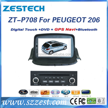 in dash car dvd player for peugeot 206 touch screen car dvd player