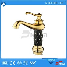 Bathroom Polished Smooth Brass Body Copper Basin Tap