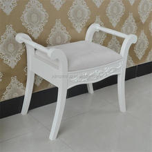 Antique Shabby Chic Wooden Bedroom Furniture Bed End Chair