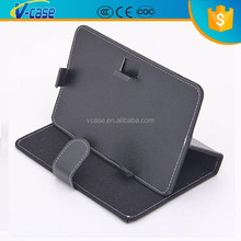 High Quality Black Tablet PC Universal PU Leather Case Cover Stand Belt Clip Case For iPad