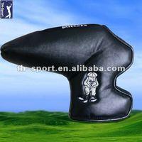 Custom made PU golf putter head cover