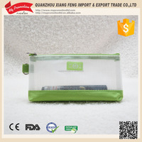 2016 new arrival Alibaba supplier clear pvc zippered pouch for school pencils