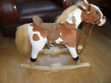 2015 hot sale kid plush riding horse toy mechanical horse toys rocking horse