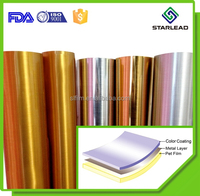 Matte Finish Colored Polyester Films, Gold Metalised PET Film, Golden Film Roll