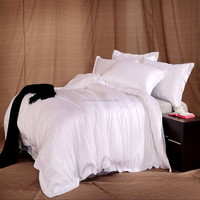 Pure white 100% polyester bed sheets manufacturers in china used hotel bed sheets