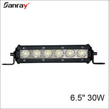 "6.5"" 30W offroad single row led light bar for jeep UTV ATV 4x4 vehicles"