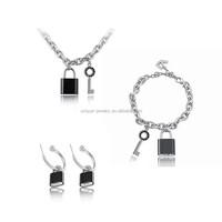 superstar accessories jewelry 316l stainless steel jewlery locket jewelry set