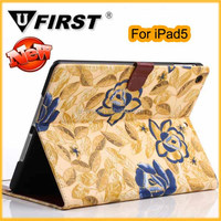 Colorful leather cover case for ipad5