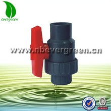 """1/2"""" -4"""" PVC Single Union Ball Valve with thread or socket ends"""