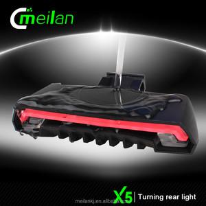 Jingyi Meilan X5 Kablosuz Uzaktan Kumanda LED Bisiklet Işık Lambası Şarj Edilebilir
