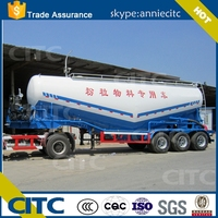3 Axles Bulk Cement Tanker /Dry Bulk Cement Bulker Tanks Semi Trailer for sale