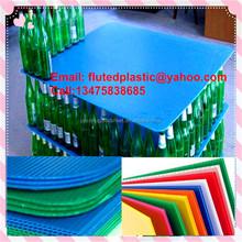 Polypropylene corrugated plastic glass botter sheet holder